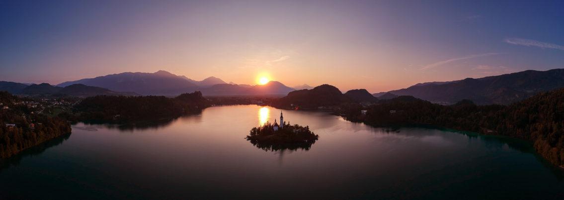 Lake Bled panorama landscape