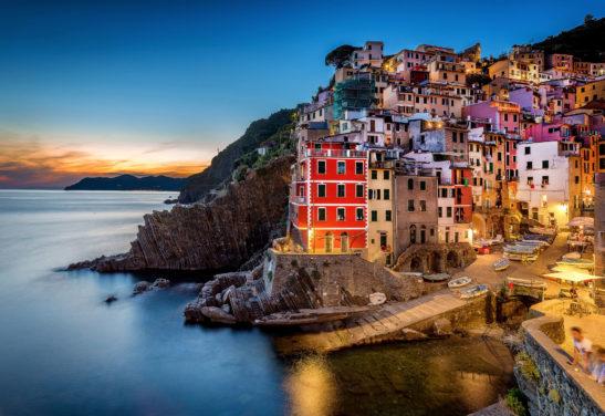 Riomaggiore Cinque Terre Italy cityscape
