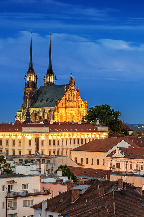 Cathedral Peter and Paul Brno cityscape