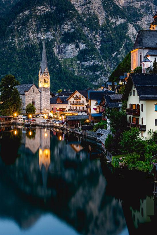 Hallstatt Austria cityscape