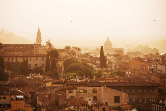 Morning in Florence Italy cityscape