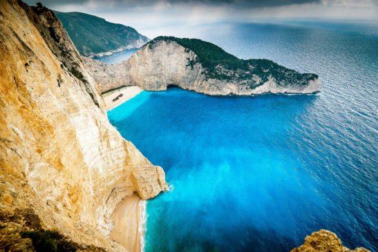 Navagio Zakynthos Greece landscape