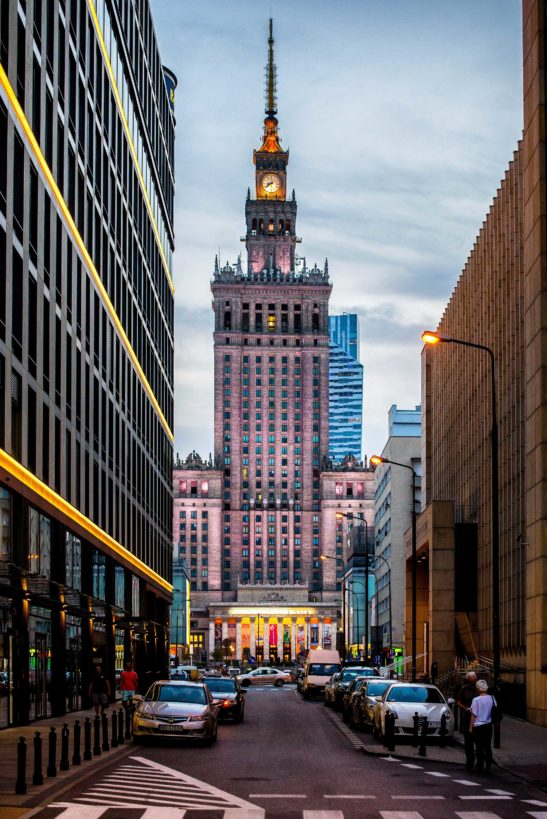 Palace of Culture and Science, Warsaw cityscape