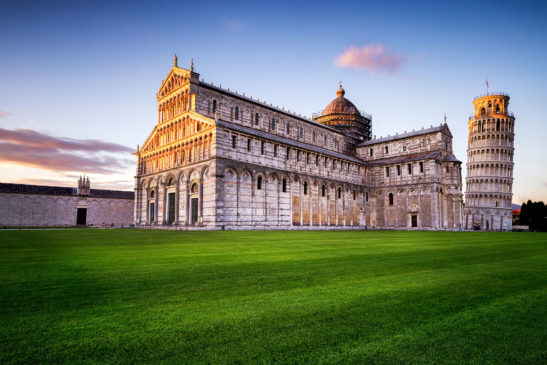 Pisa tower and cathedral Italy cityscape