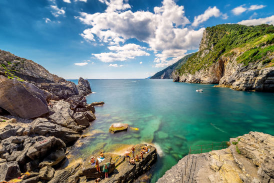 Summer day in Portovenere Italy landscape