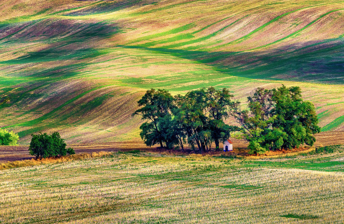 The Chapel of Saint Barbara Moravia landscape