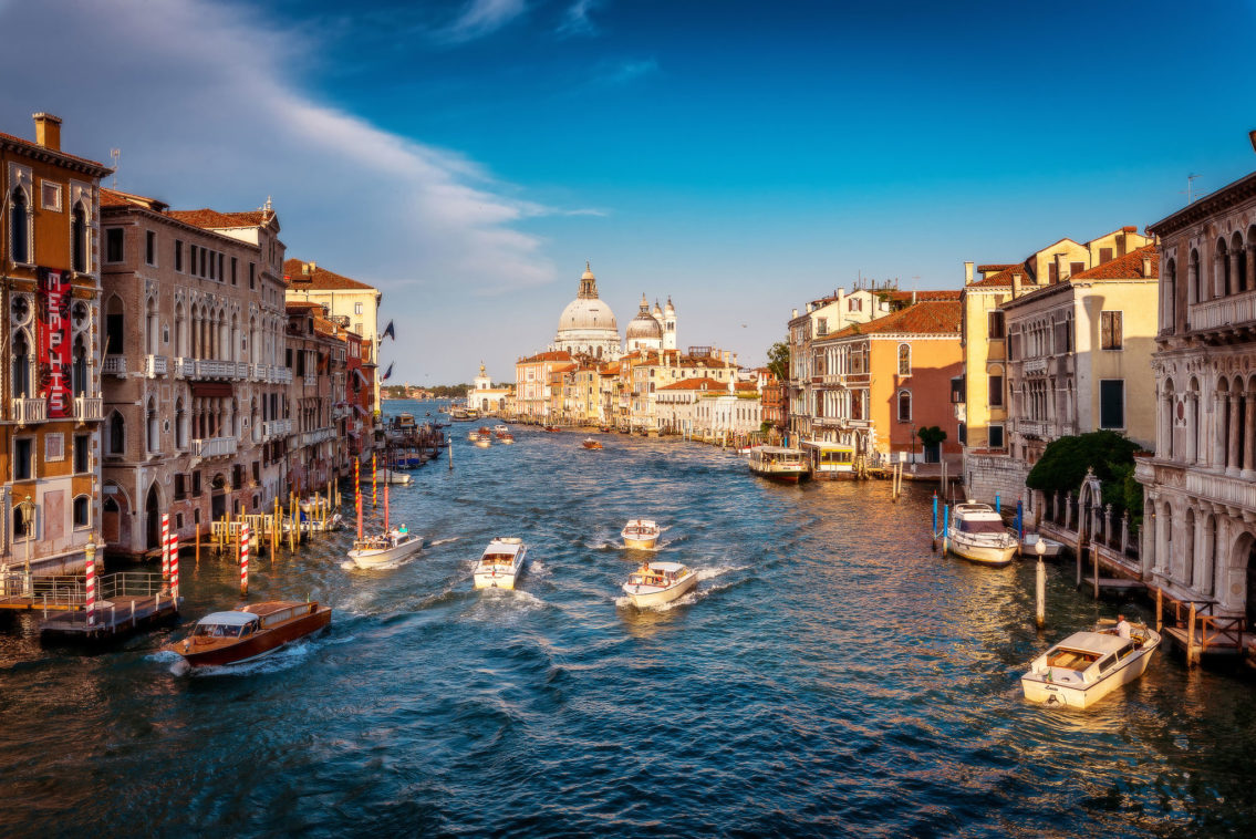 Venice golden hour Italy cityscape