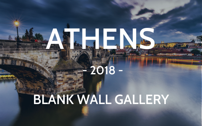Athens 2018 Blank wall gallery Charles bridge Prague cityscape