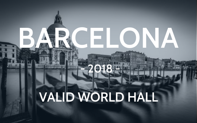 Barcelona 2018 Valid world hall Venice Italy black and white