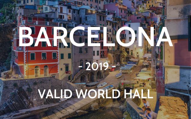 Barcelona 2019 Valid world hall Riomaggioere Cinque Terre cityscape