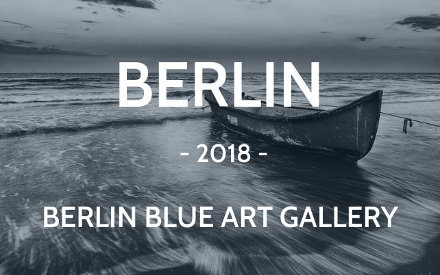 Berlin 2018 Blue art gallery boat black and white